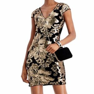 "NWT ""GUESS"" VELVET SEQUIN DRESS SIZE 12"